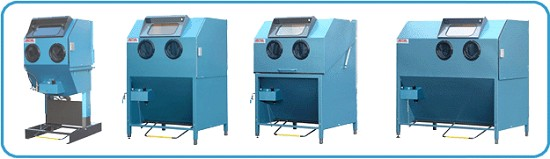 SANDBLAST CABINETS, SANDBLASTING EQUIPMENT & TOOLINGS